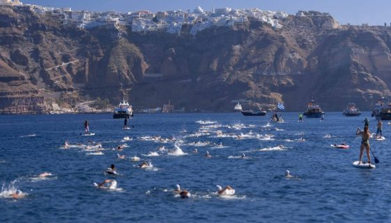Santorini Experience_swimming photo by Elias Lefas